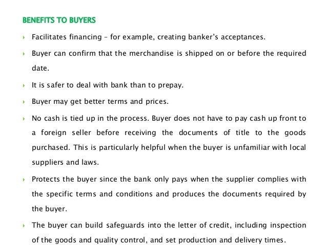 Letter of Credit – Letter of Credit Sample