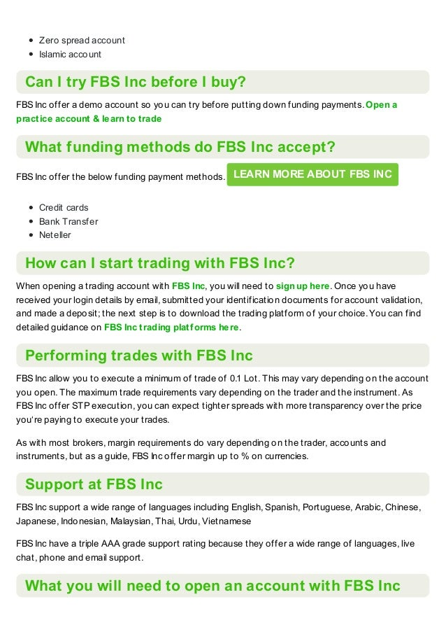 FBS inc broker review