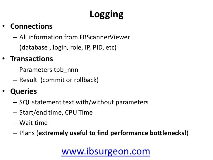 General monitoring<br />What server is doing? CPU/traffic/queries<br />Who is connected to this or that database?<br />Con...