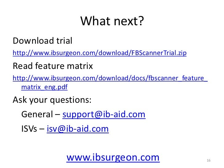 Logging<br />Connections<br />All information from FBScannerViewer<br />(database, login, role, IP,PID, etc)<br />Transact...