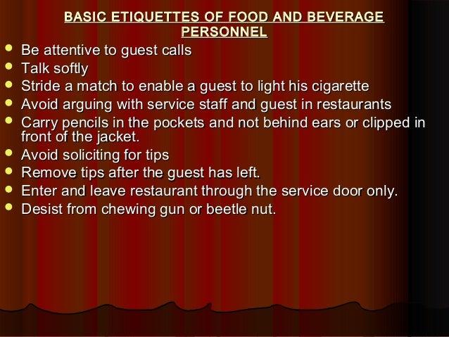 Unit Four Food  Beverage Service              SlideServe