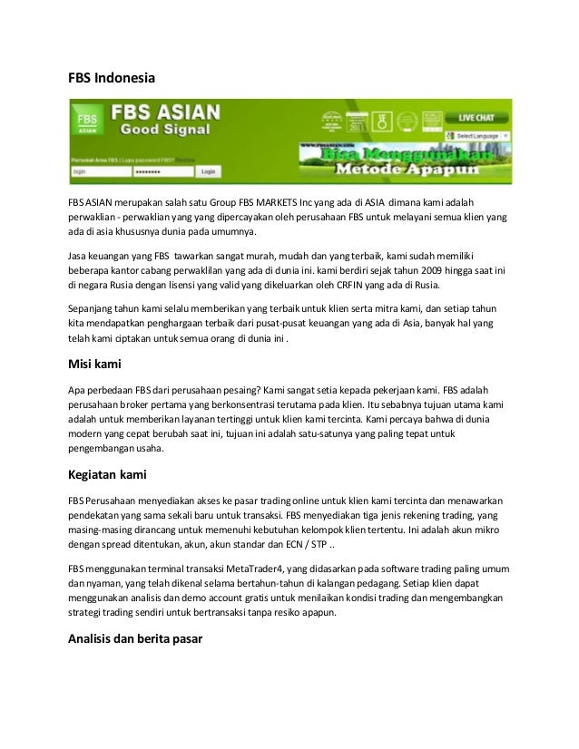 Fbs forex indonesia