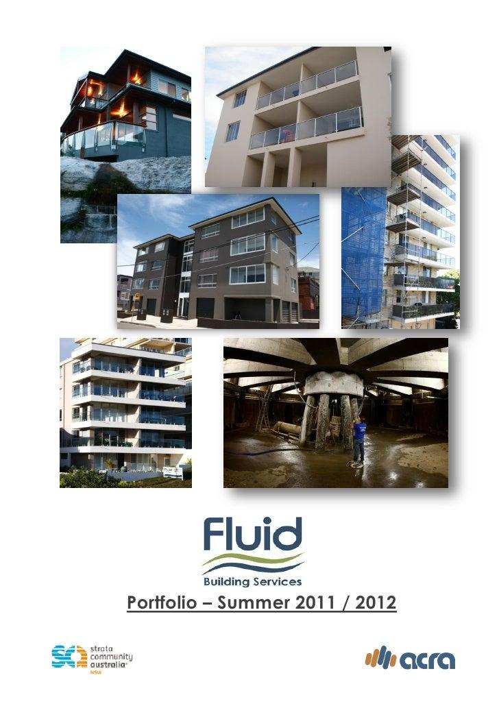 Portfolio – Summer 2011 / 2012