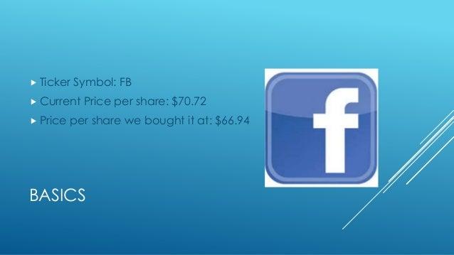 Fb Stock Market Ppt
