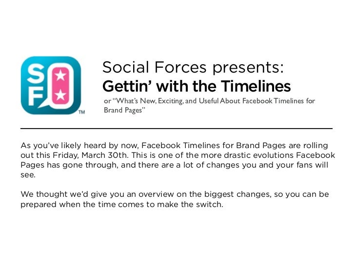 """Social Forces presents:                    Gettin' with the Timelines                     or """"What's New, Exciting, and Us..."""