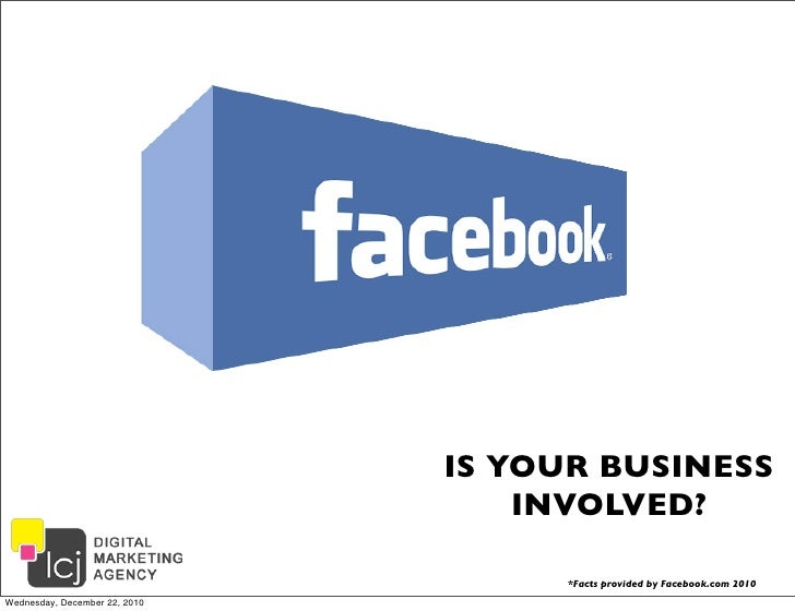 IS YOUR BUSINESS                                   INVOLVED?                                    *Facts provided by Faceboo...