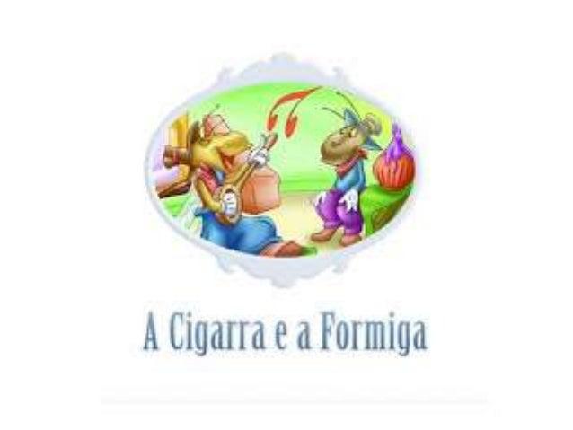 Fábula a cigarra e a formiga slides