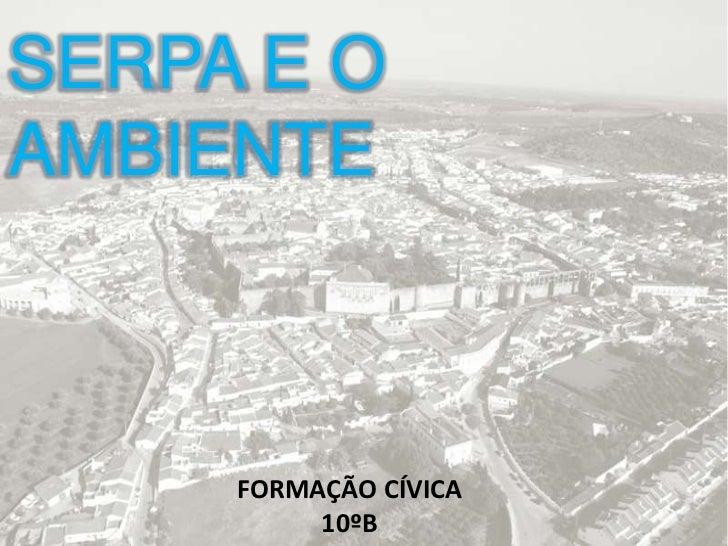 SERPA E OAMBIENTE     FORMAÇÃO CÍVICA          10ºB