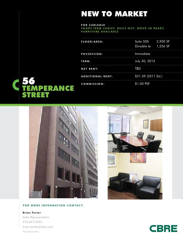 NEW TO MARKET                                              FOR SUBLEASE                                              S H O...