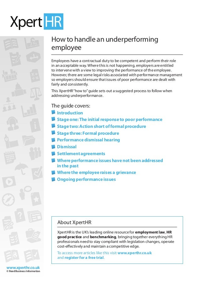How To Handle An Underperforming Employee