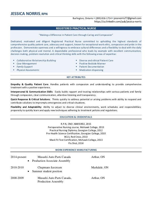 nursing and manufacturing resume jessica norris rpn burlington ontario 289 816 1714 jessnorris77