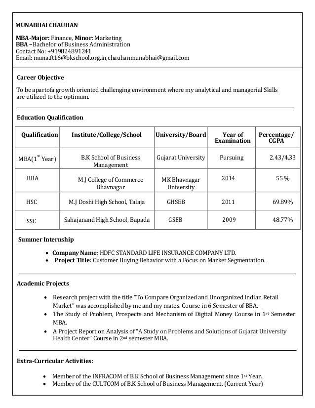 muna resume final