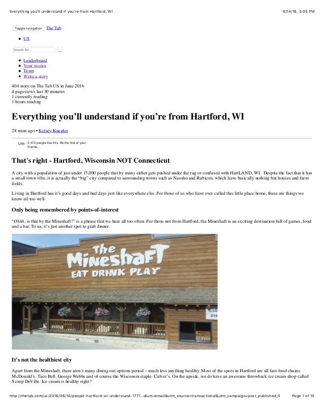 6/14/16, 3:05 PMEverything you'll understand if you're from Hartford, WI Page 1 of 10http://thetab.com/us/2016/06/14/peopl...