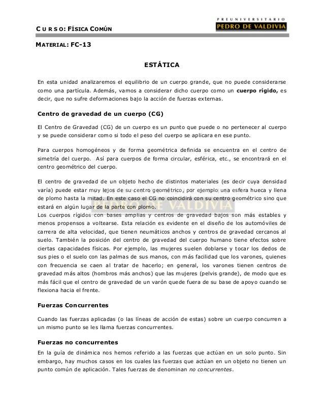 Estática (FC13 - PDV 2013)