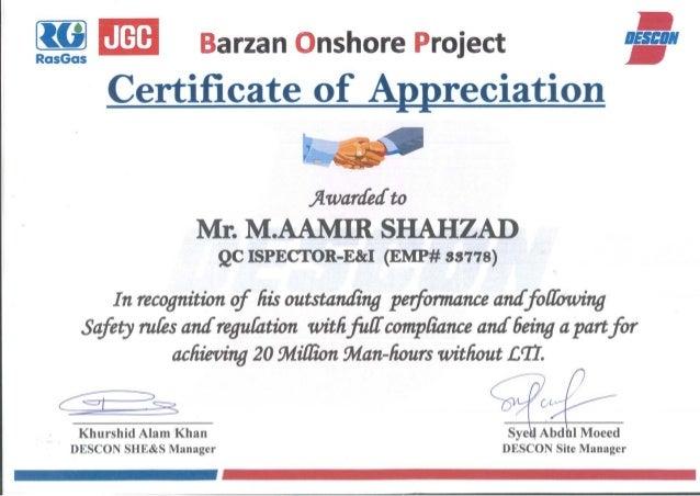 Experience Certificates Pdf