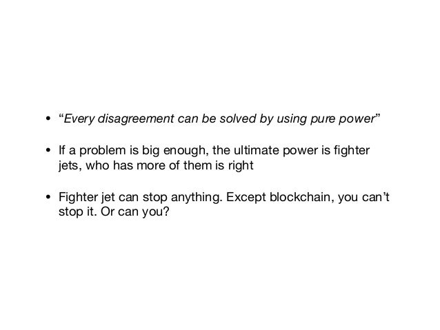 • Bitcoin   • has a stable protocol, less depends on core progress currently   • suspicious community and opposing to chan...