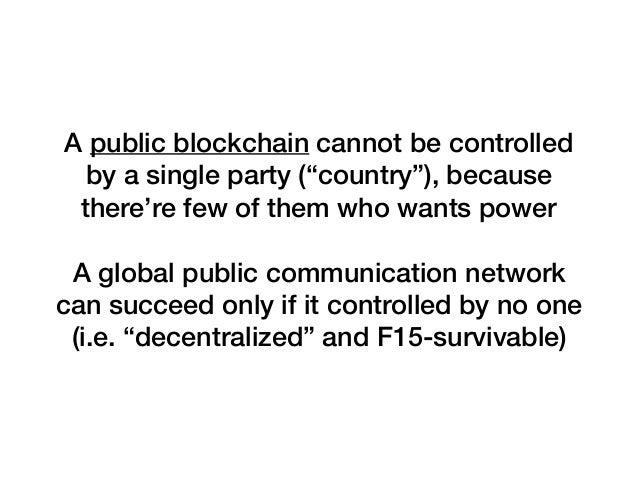 Decentralization for public blockchains