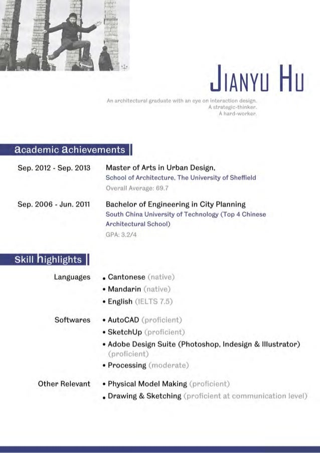 cv of jianyu hu  contact info not included