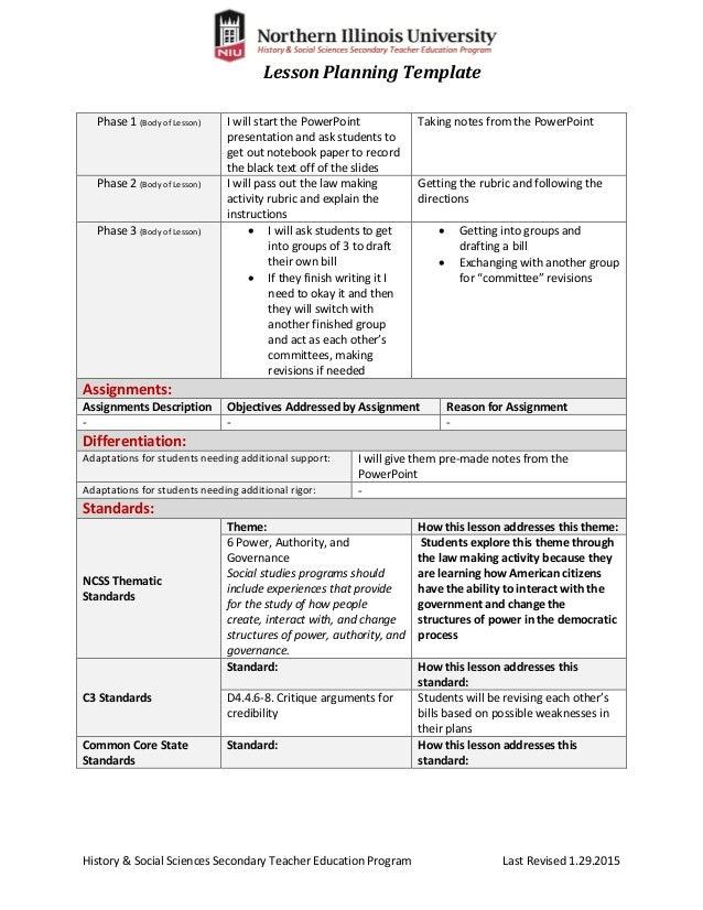 Exelent Edi Lesson Plan Template Motif Examples Professional