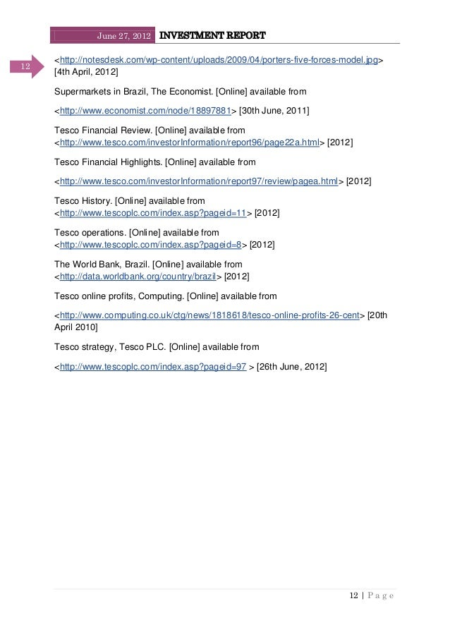 June 27, 2012 INVESTMENT REPORT 12   P a g e 12 <http://notesdesk.com/wp-content/uploads/2009/04/porters-five-forces-model...
