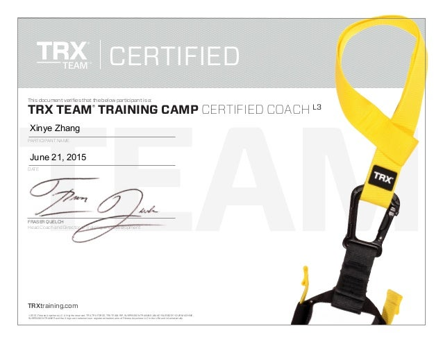 TEAM TRXtraining.com © 2012, Fitness Anywhere LLC. All rights reserved. TRX, TRX FORCE, TRX TEAM, RIP, SUSPENSION TRAINING...