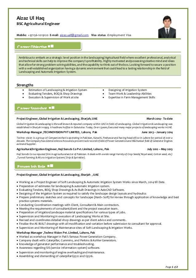 Aizaz Cv Agricultural Engr