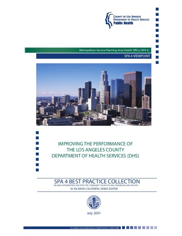 SPA 4 VIEWPOINT IMPROVING THE PERFORMANCE OF THE LOS ANGELES COUNTY DEPARTMENT OF HEALTH SERVICES (DHS) Los Angeles County...