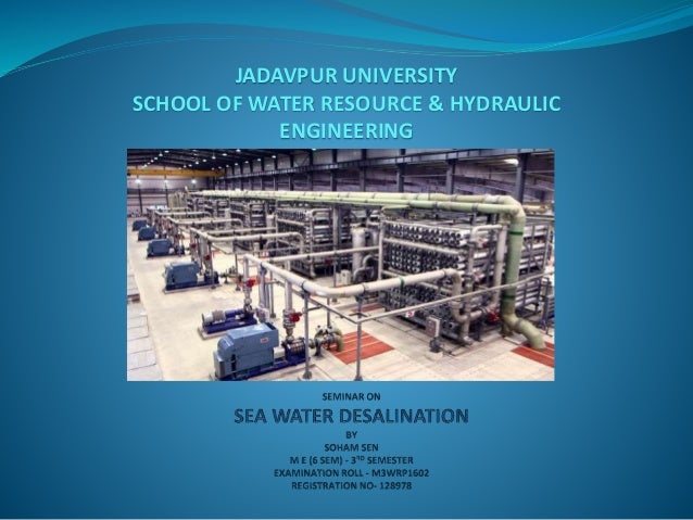 JADAVPUR UNIVERSITY SCHOOL OF WATER RESOURCE & HYDRAULIC ENGINEERING