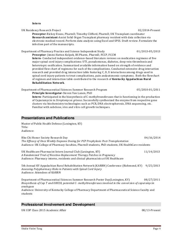 tang shidie resume
