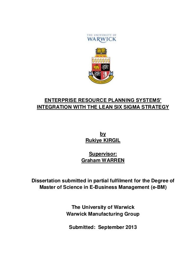 Phd thesis on erp