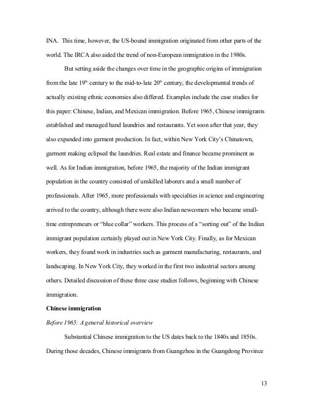 immigration law essay