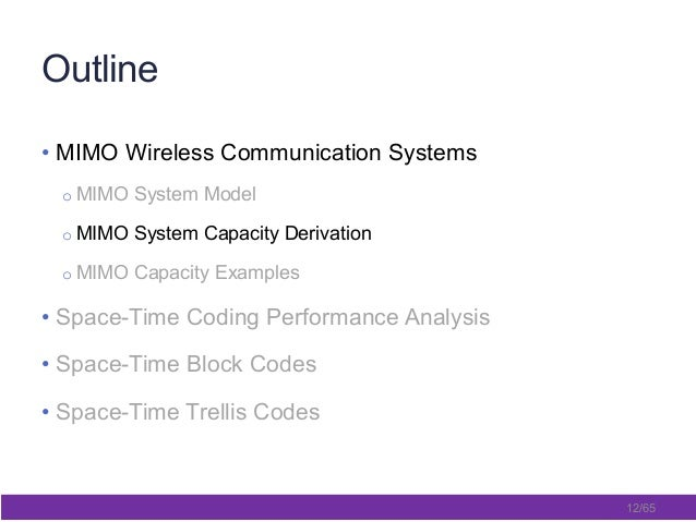 thesis on space-time coding Mimo-ofdm with alamouti space-time coding bachelor thesis: implementation of a software-defined radio testbed for ofdm-mimo communication systems alireza zaeemzadeh __ university of tehran.