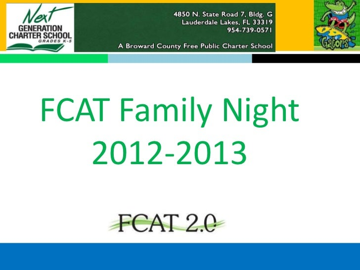 FCAT Family Night   2012-2013