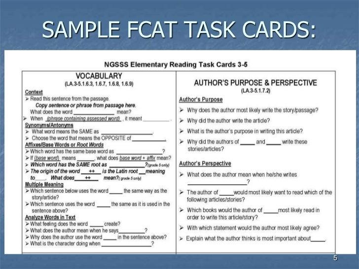 FCAT Reading Parent Workshop