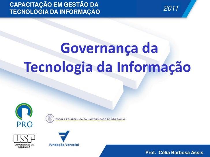 CAPACITAÇÃO EM GESTÃO DATECNOLOGIA DA INFORMAÇÃO                                                            2011          ...