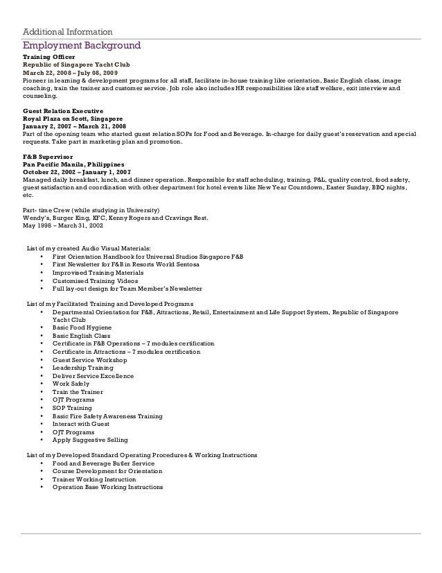 Magnificent Resume Coaching Singapore Motif - Example Resume Ideas ...