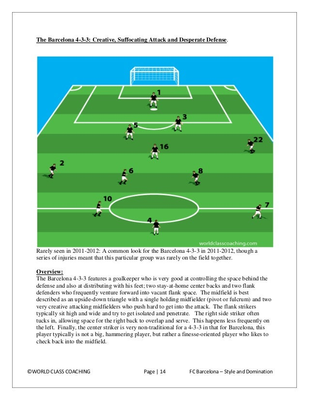 Style of Play Barcelona, by their own admission, are obsessed with possessing the ball. Both in La Liga and in the Champio...