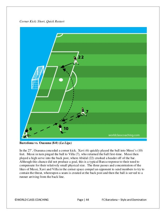 Learning 'The Barcelona Way': Training Exercises The following are training exercises culled from hours of observation of ...