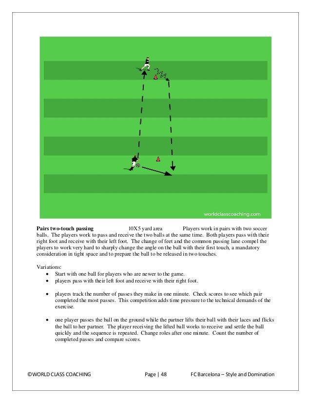 Angled passing in a grid 10x10 yard grids Build enough grids so players can work in pairs. Demonstrate with one group. Pla...