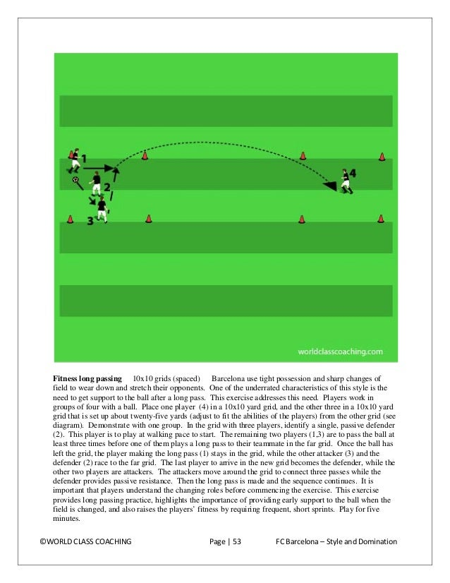 Passing Pattern and Rhythm Play  Diamond passing 1 6x6 yard areas Players pass and follow as indicated with an emphasis on...