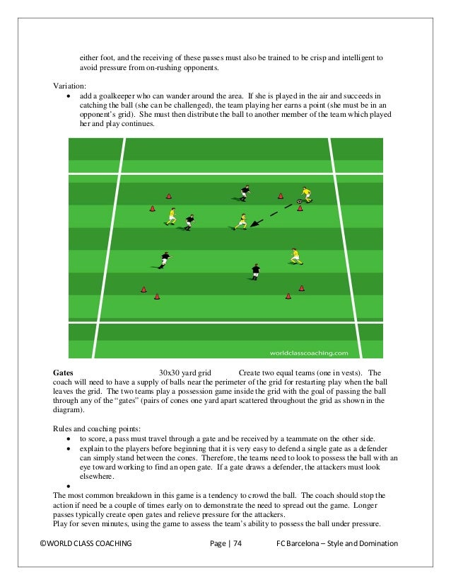 11 vs. 6 possession ¾ field This environment adds a functional setting to the patterns and characteristics developed in pr...