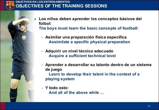 !16 ▪ Los niños deben aprender los conceptos básicos del fútbol: The boys must learn the basic concepts of football: - Asi...