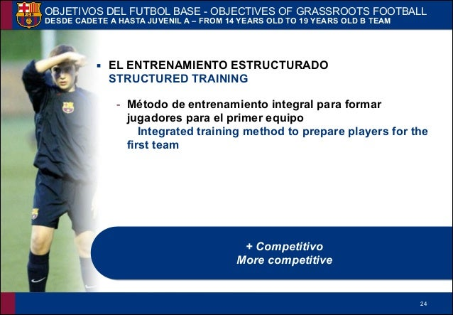 !24 ▪ EL ENTRENAMIENTO ESTRUCTURADO STRUCTURED TRAINING - Método de entrenamiento integral para formar jugadores para el p...