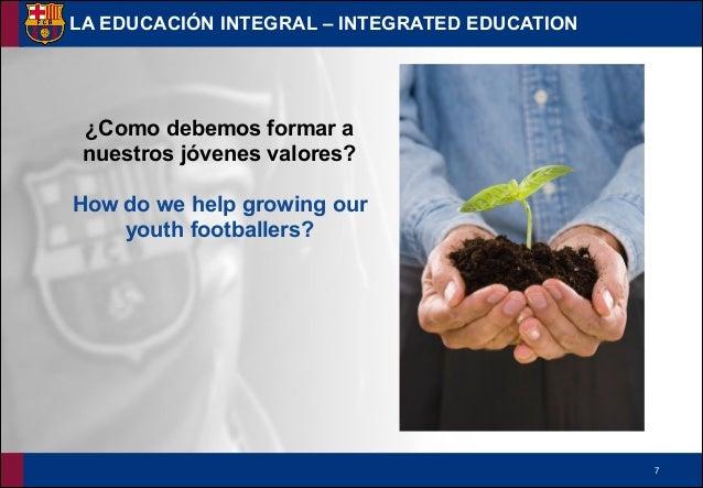 !7 LA EDUCACIÓN INTEGRAL – INTEGRATED EDUCATION ¿Como debemos formar a nuestros jóvenes valores? ! How do we help growing ...