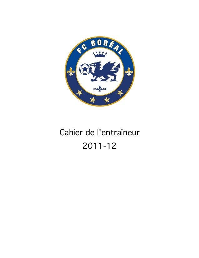 Cahier de l'entraîneur 2011-12