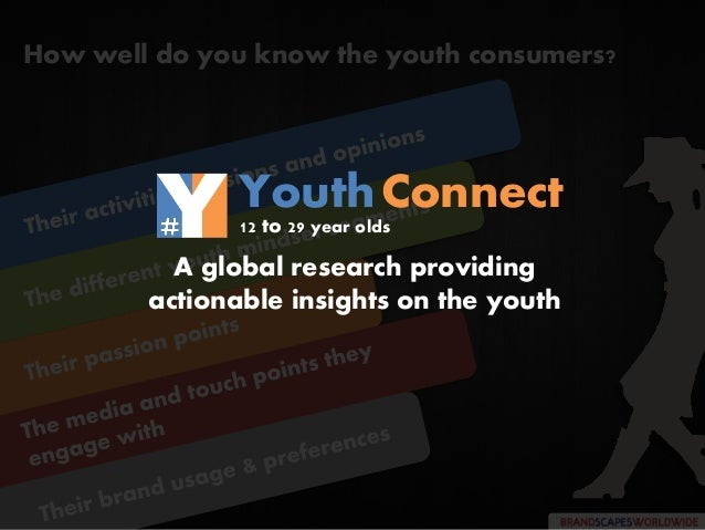 How well do you know the youth consumers? A global research providing actionable insights on the youth YouthConnect 12 to ...