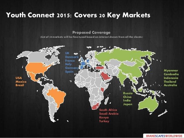 Youth Connect 2015: Covers 20 Key Markets Myanmar Cambodia Indonesia Thailand Australia USA Mexico Brazil UK Denmark Franc...