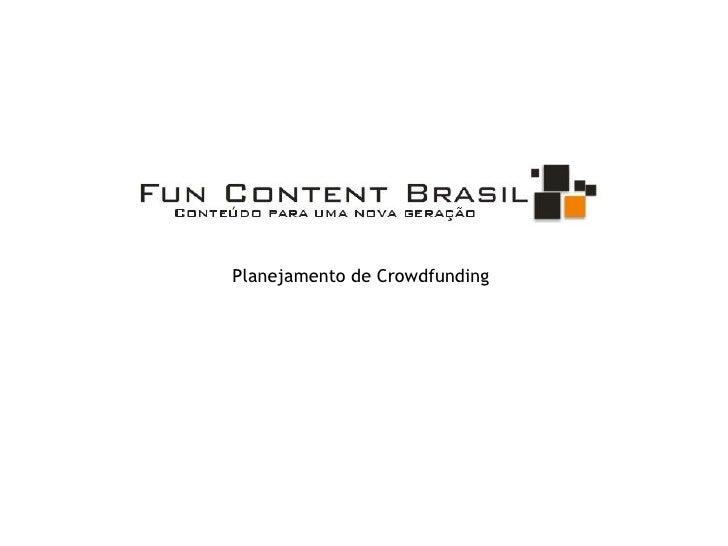Planejamento de Crowdfunding