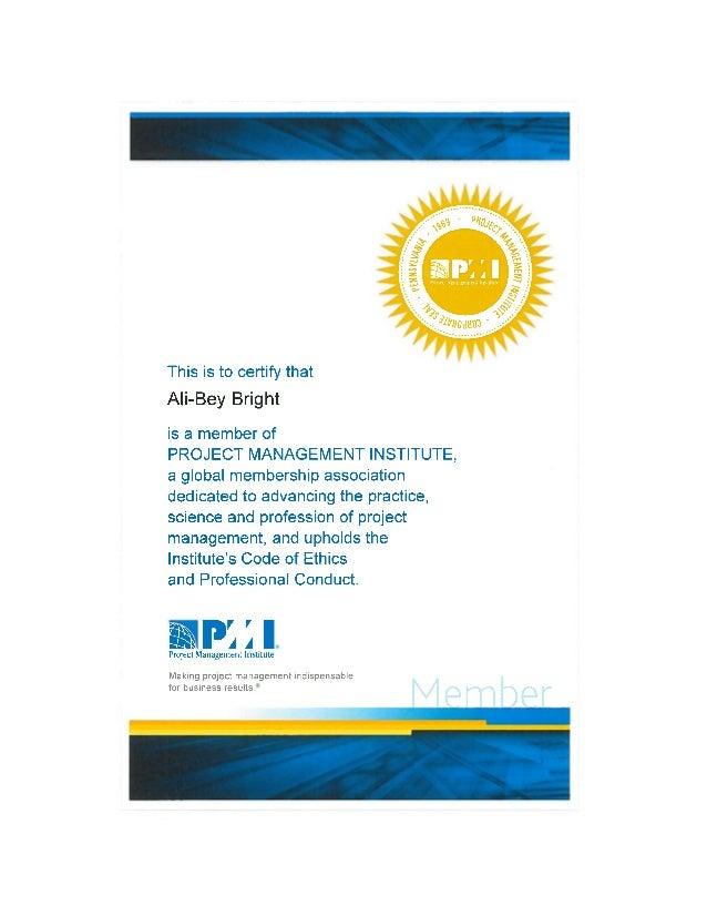 Pmi Member Certificate