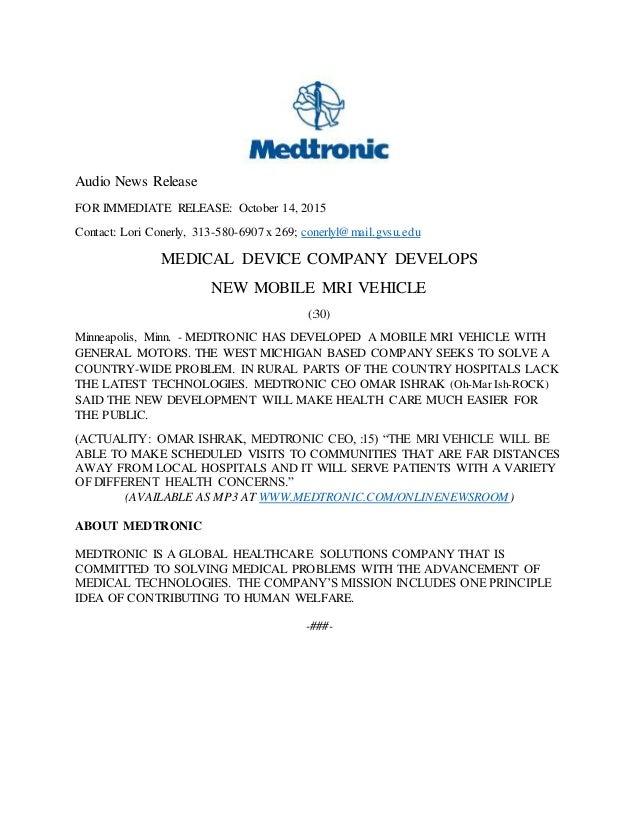 audio news release